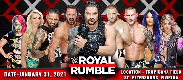 WWE Royal Rumble 2021 Live, 31 January 2021 at Tropicana Field, TV Stream Online in HD