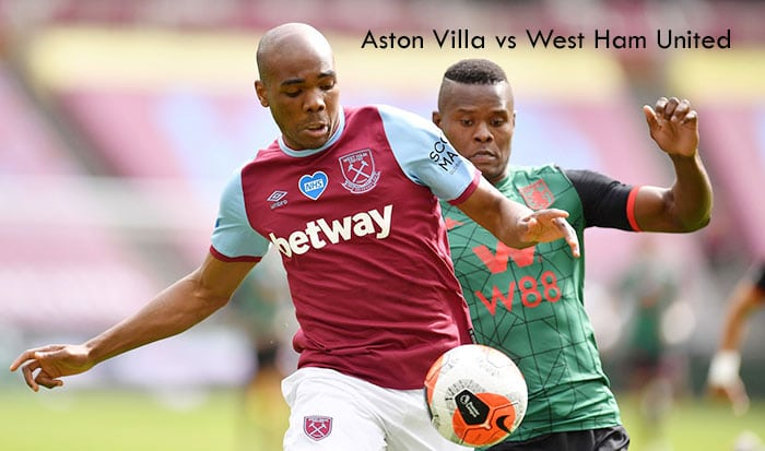 Aston Villa vs West Ham United Live, Soccer, English Premier League
